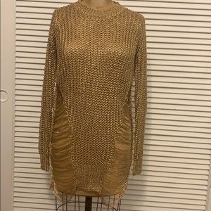 Thirty 6 Point 5 Gold Distressed Sweater